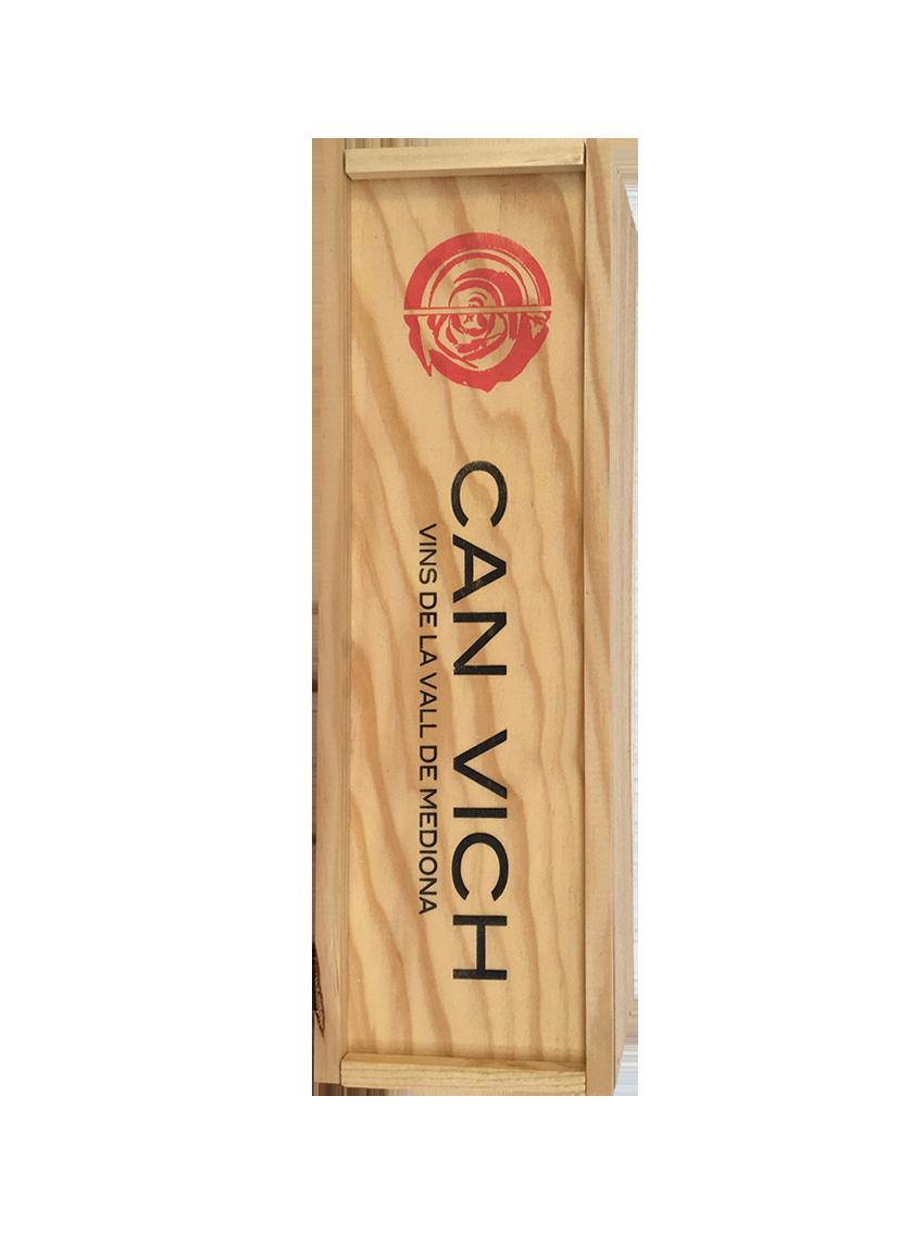 Caixa de fusta per a 1 ampolla